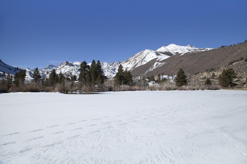 Intake II冻湖 库存图片
