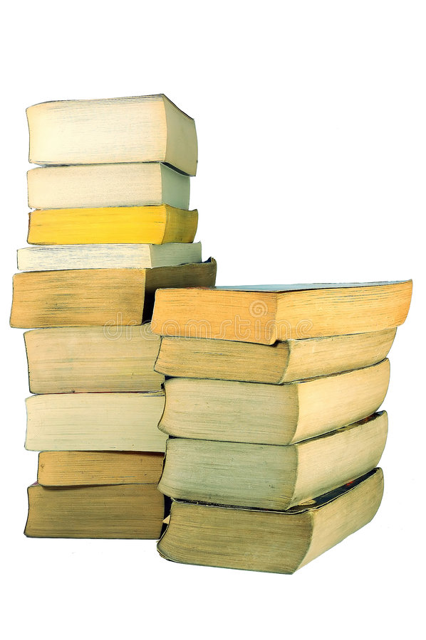 Intaschi i libri fotografia stock