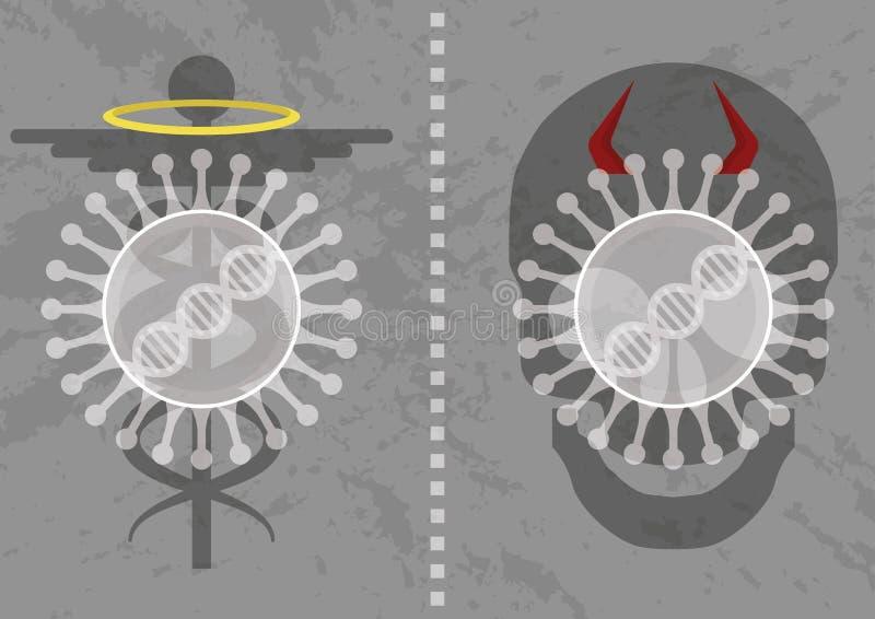 Inte all virus är dålig royaltyfri illustrationer