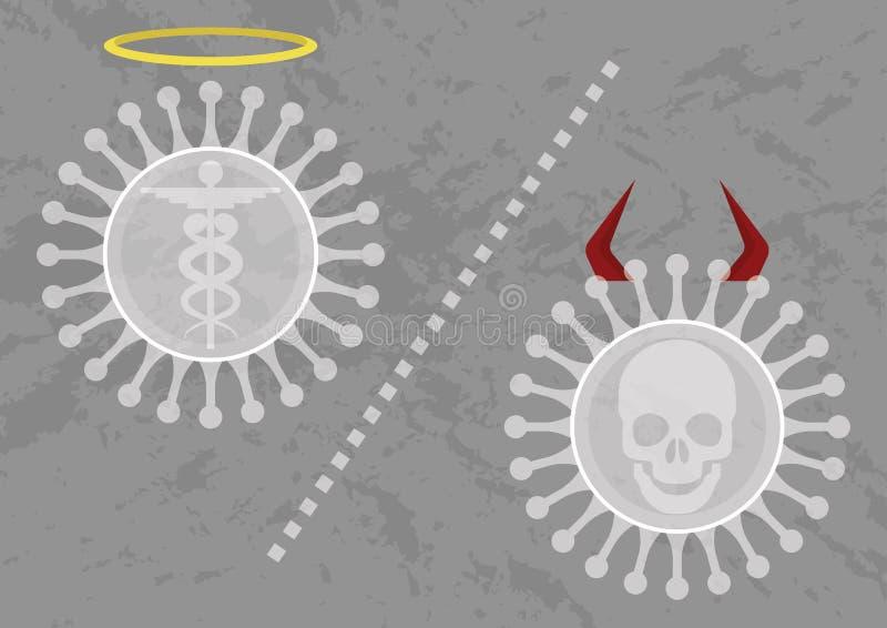 Inte all virus är dålig vektor illustrationer