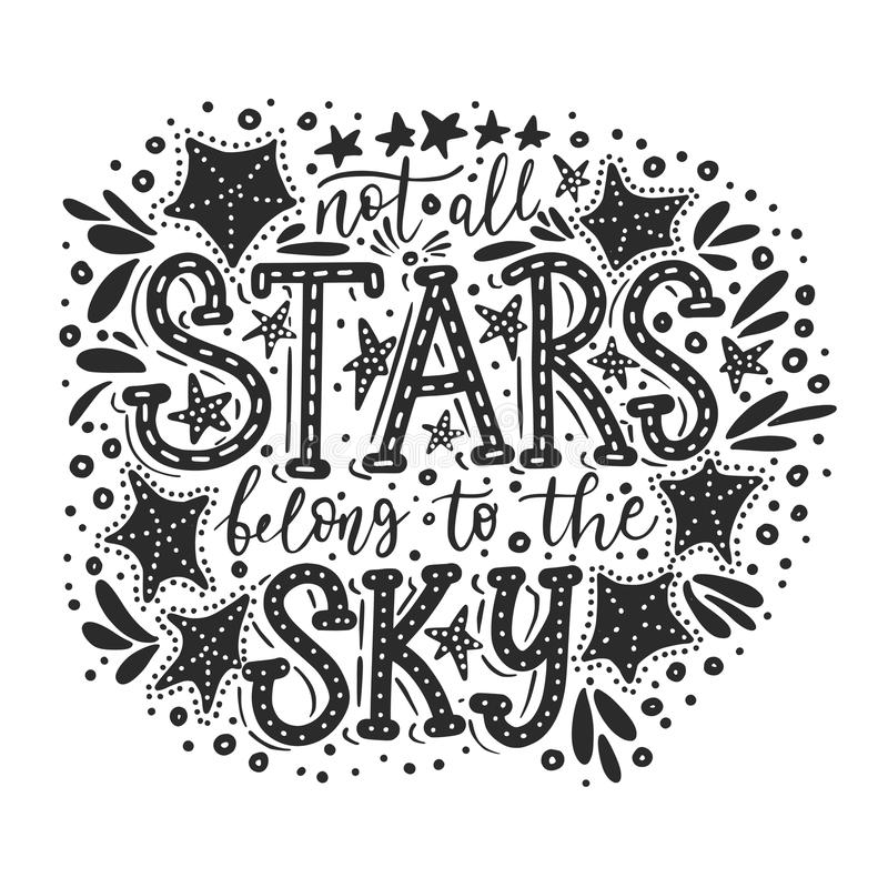 Inte alla stjärnor tillhör himlen vektor royaltyfri illustrationer