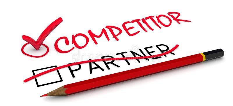 Inte en partner, utan en konkurrent royaltyfri illustrationer