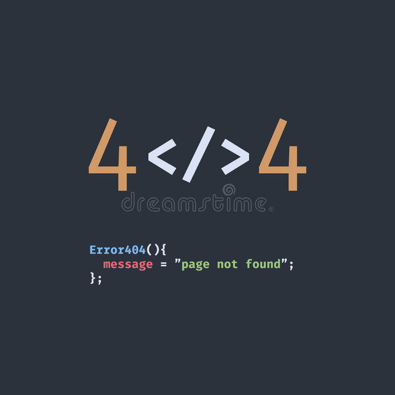Inte-funnen sida för fel 404 royaltyfri illustrationer