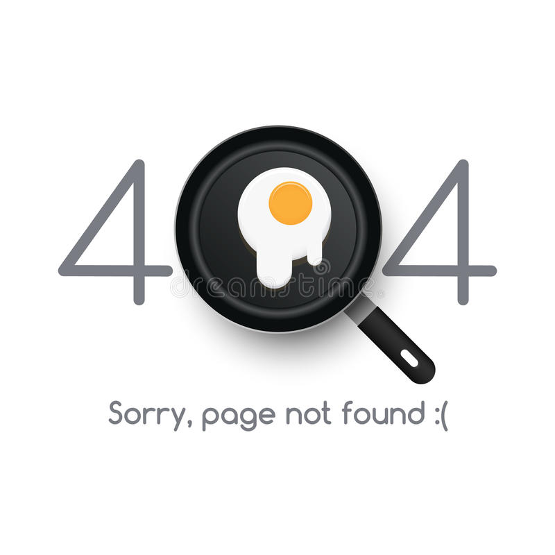 Inte-funnen sida för fel 404 vektor illustrationer