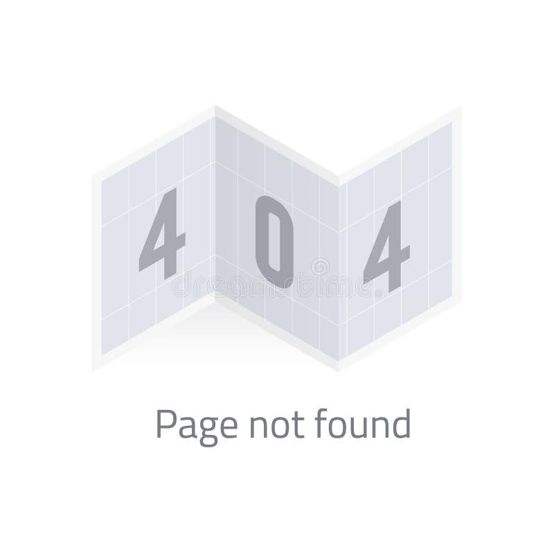 Inte-funnen sida för fel 404 stock illustrationer