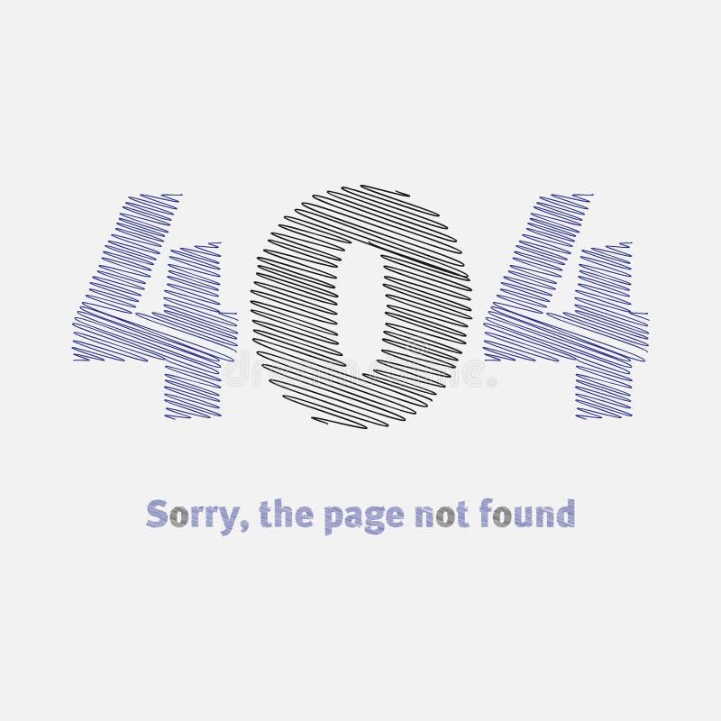 Inte-funnen sida, fel 404 stock illustrationer