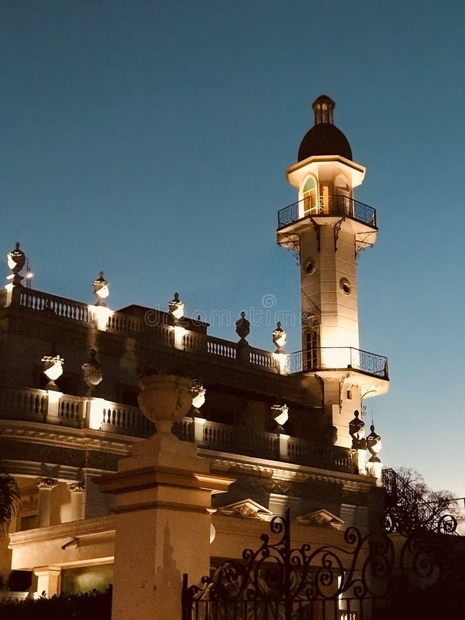 Inte många personer vet av minaret i Merida, Mexico - MERIDA - YUCATANEN arkivfoto