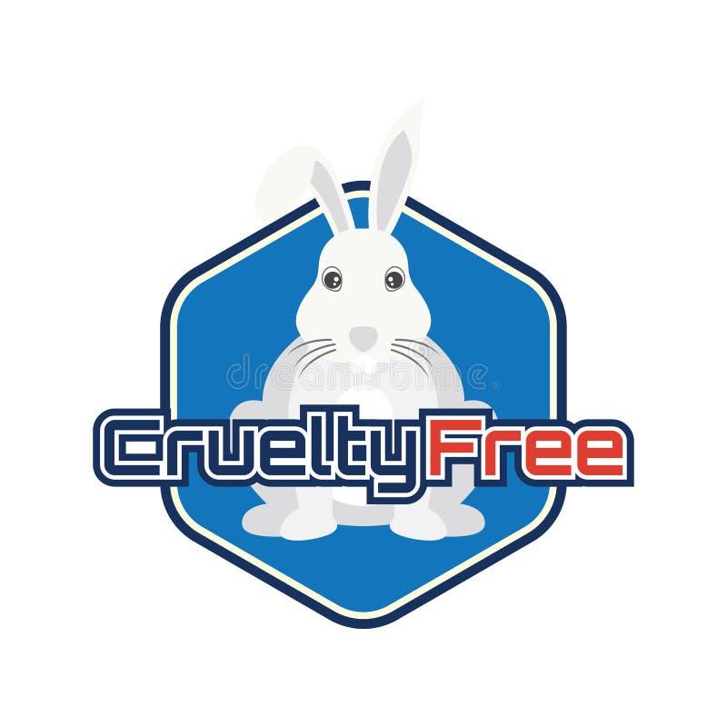Inte testat på djur, grymhet fritt, ingen logo för djur provning för doktor eller klinik royaltyfri illustrationer