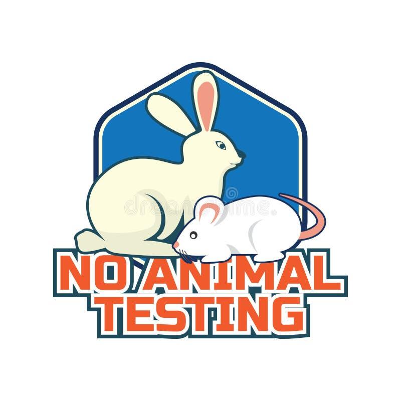 Inte testat på djur, grymhet fritt, ingen logo för djur provning för doktor eller klinik stock illustrationer