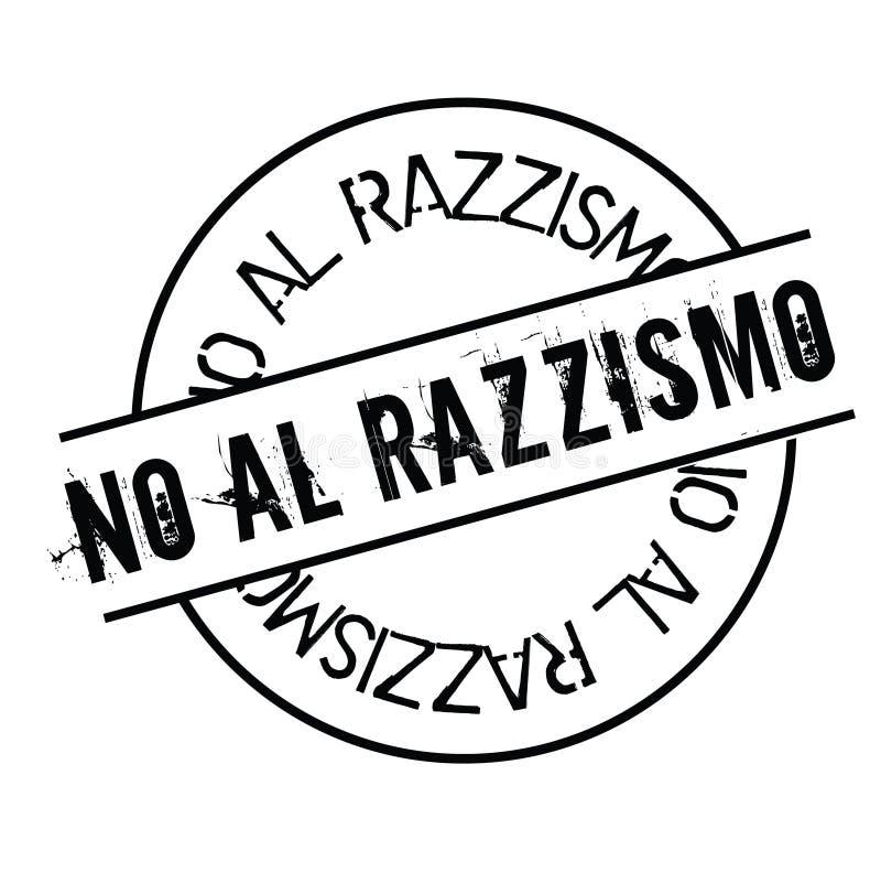 Inte till rasismstämpeln i italienare stock illustrationer