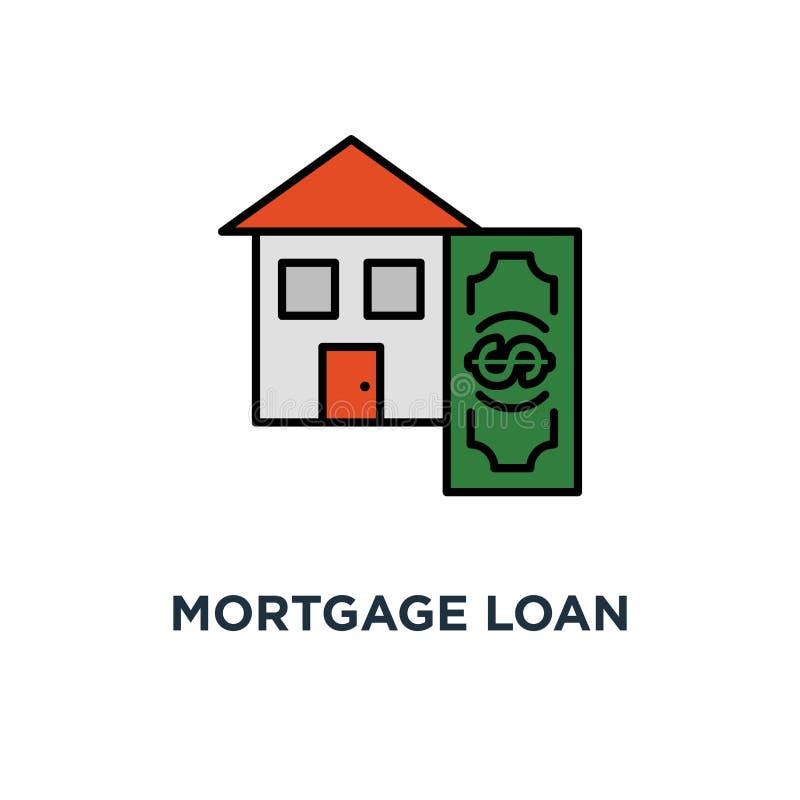 inteckna lånräknemaskinsymbolen ner - design för betalningbegreppssymbol låg räntesats, hem- köpande budget, tunn slaglängdvektor vektor illustrationer