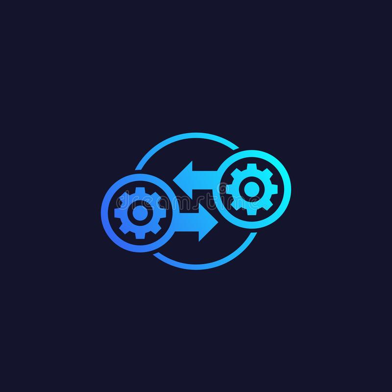 Integração, ícone do vetor da otimização ilustração stock