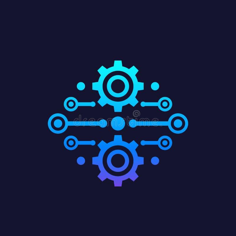 Integração, vetor do conceito da automatização ilustração do vetor