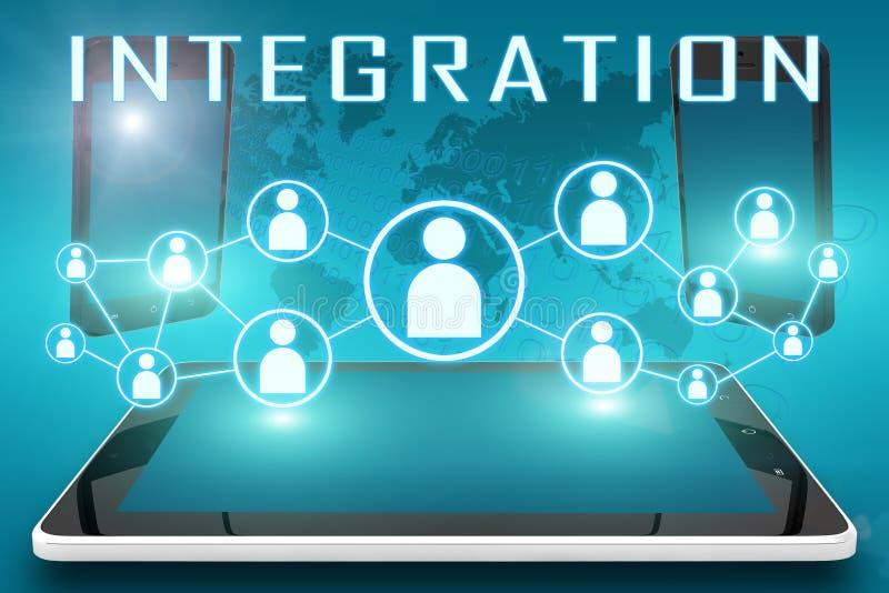 integración stock de ilustración