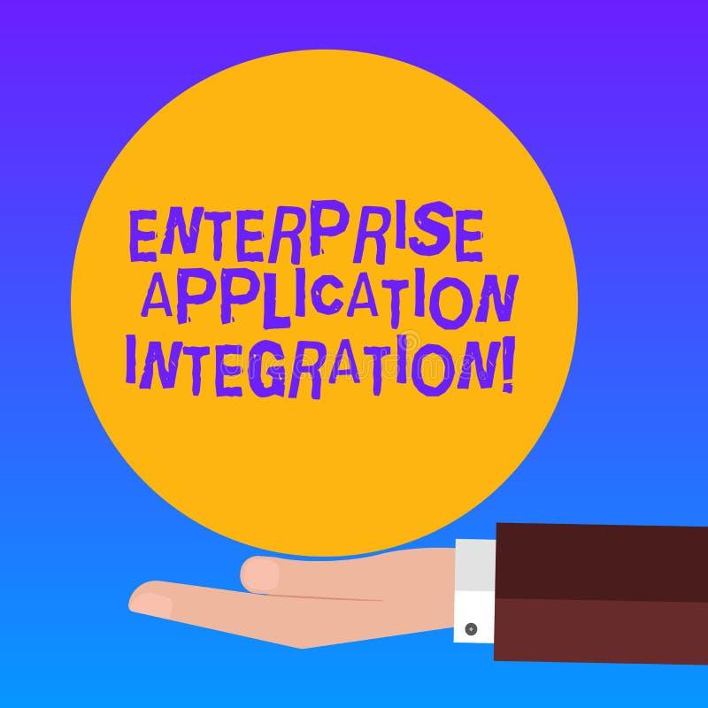 Integración de la aplicación empresarial del texto de la escritura Mano de conexión del análisis de Hu de las aplicaciones empres stock de ilustración
