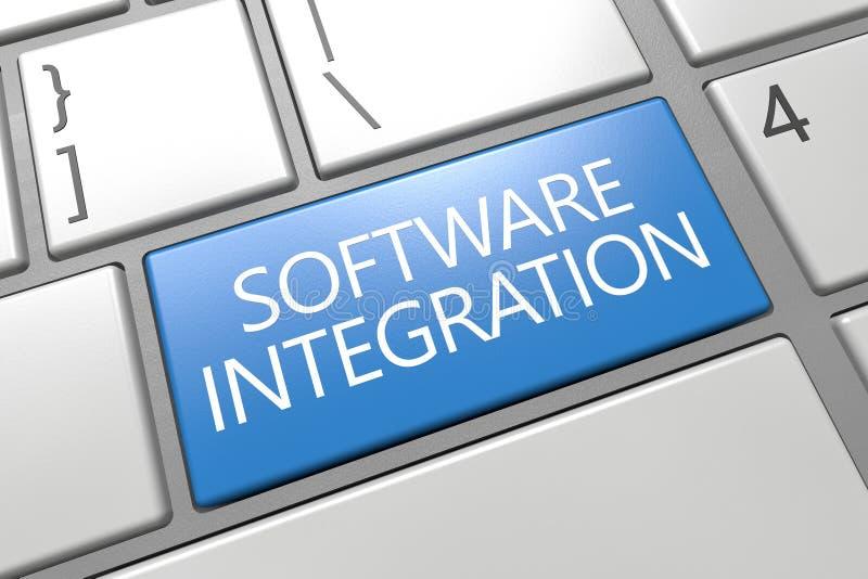 Integración de software ilustración del vector