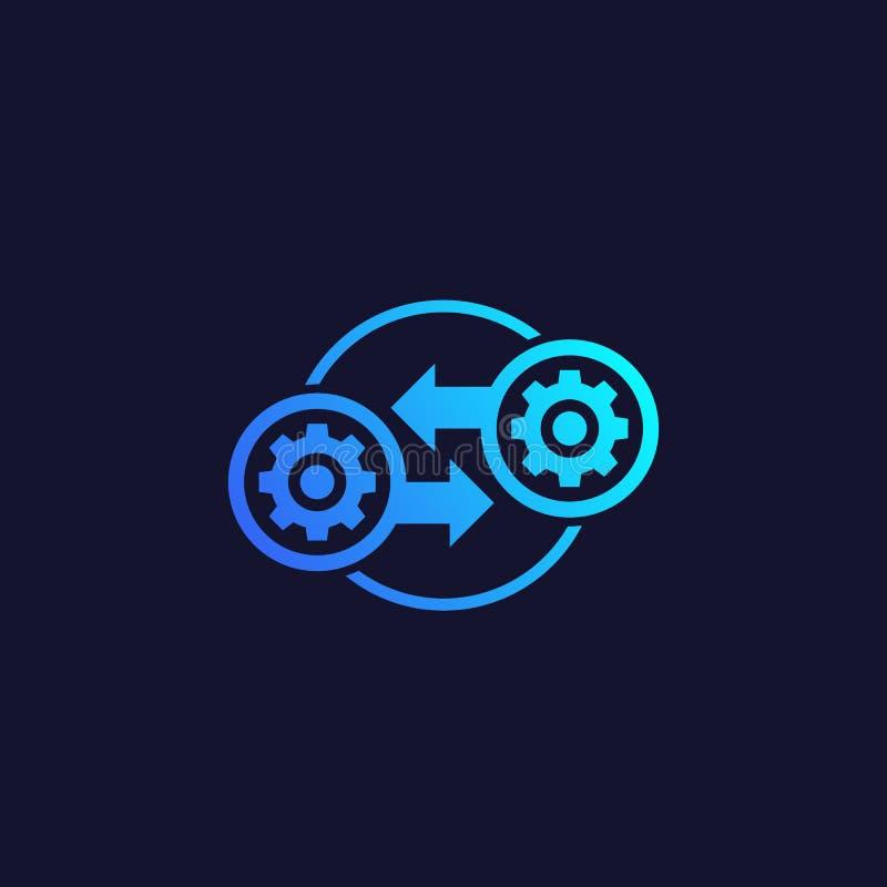 Integración, icono del vector de la optimización stock de ilustración