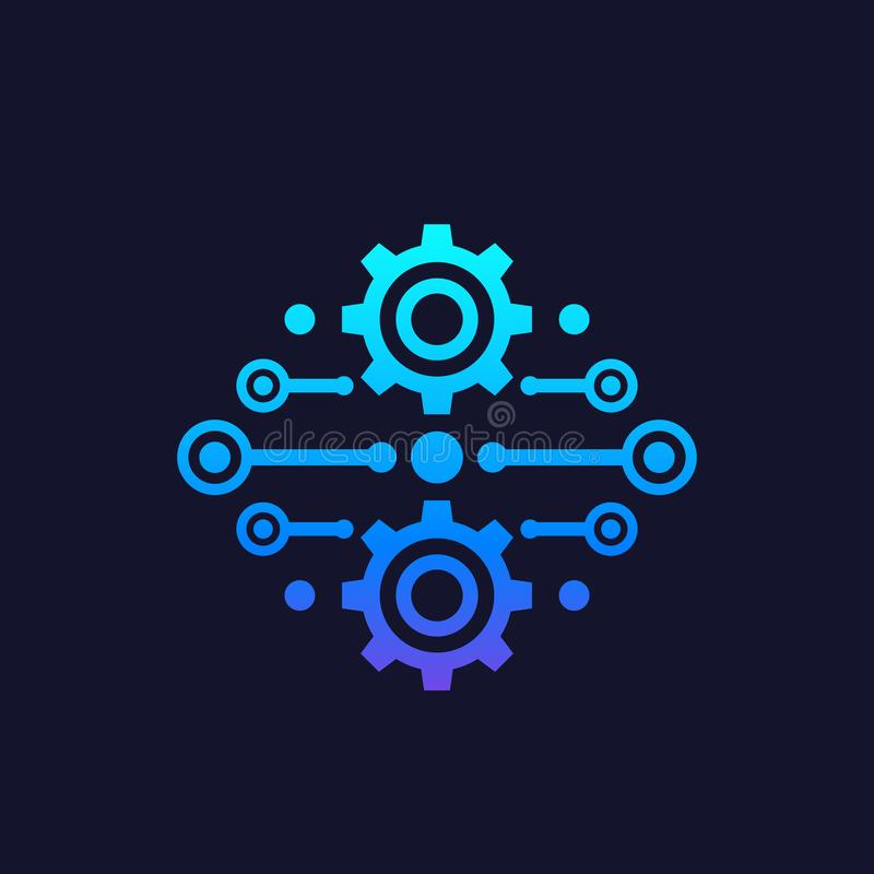 Integración, vector del concepto de la automatización ilustración del vector