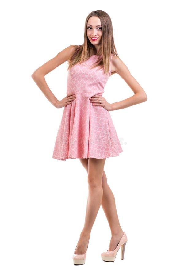 Integral De Mujer Sensual En El Baile Corto Del Vestido Contra ...
