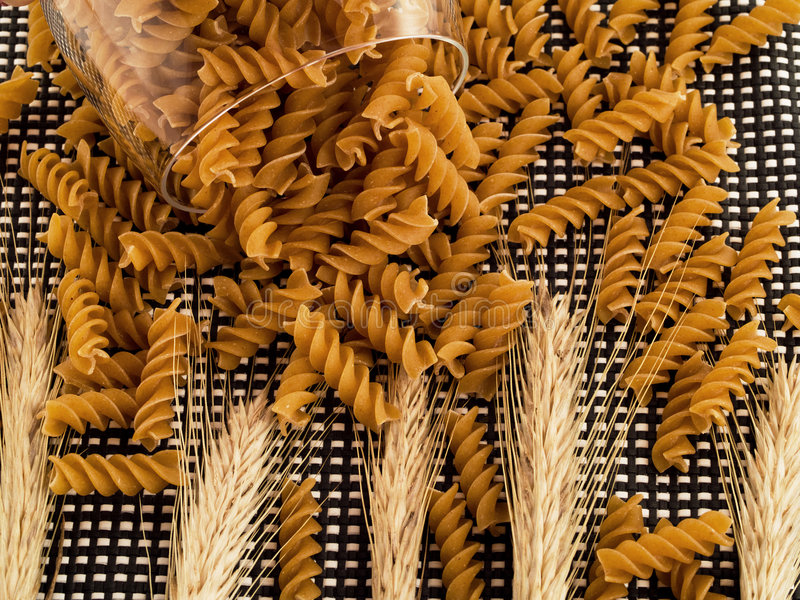 Download Integral pasta stock image. Image of noodle, spilled, nutrition - 4195955