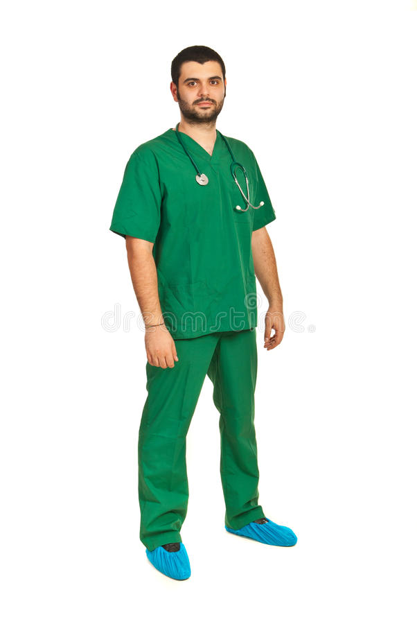 Integrale del maschio del chirurgo immagini stock