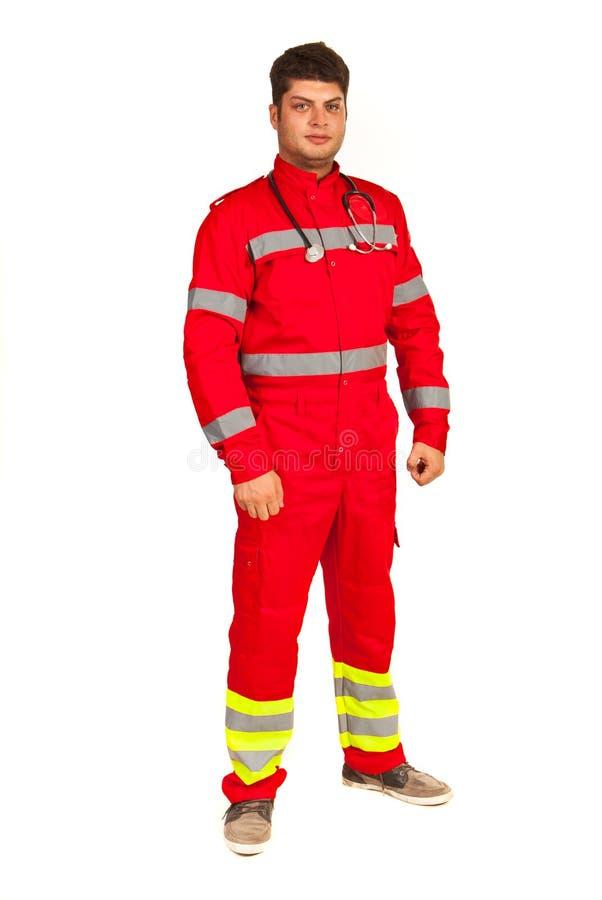 Integrale dell'uomo del paramedico immagine stock
