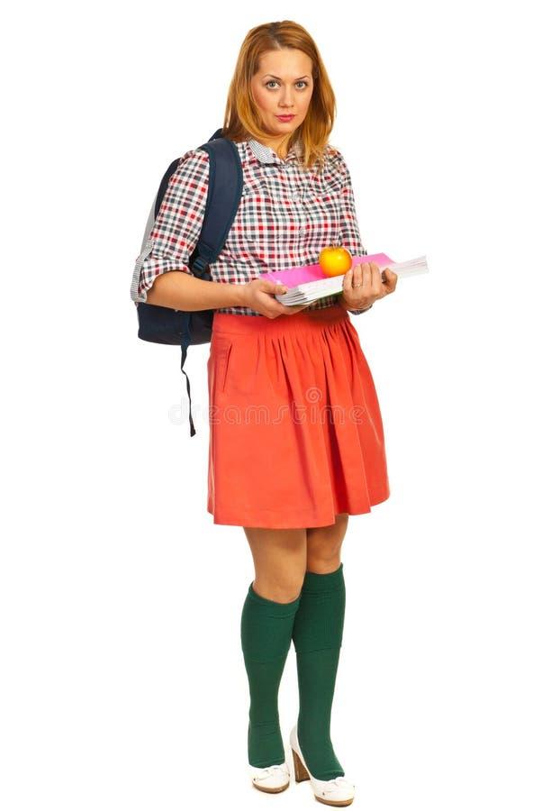 Integrale della donna dello studente immagine stock