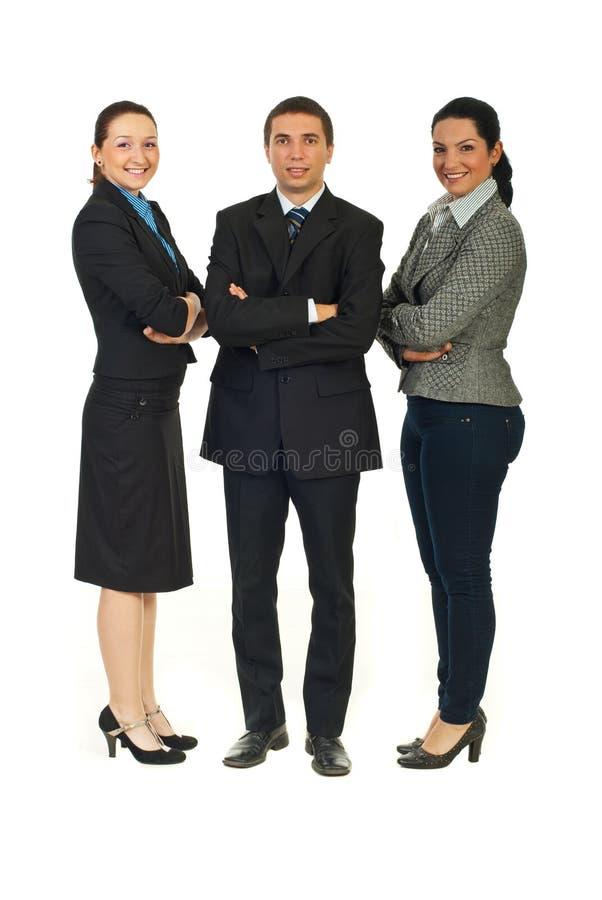 Integrale della gente di affari allegra immagine stock libera da diritti