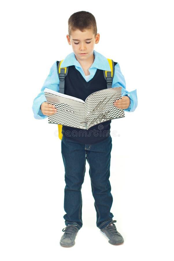 Integrale della lettura dello scolaro immagine stock libera da diritti