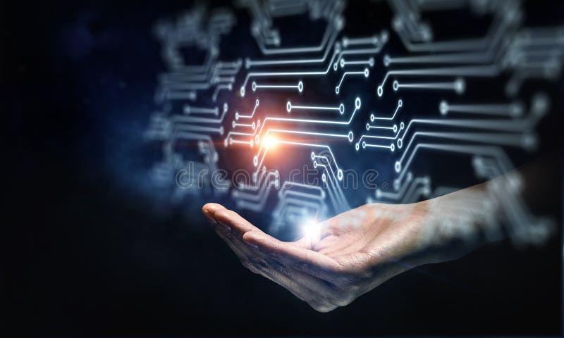 Integrando as tecnologias imagem de stock royalty free
