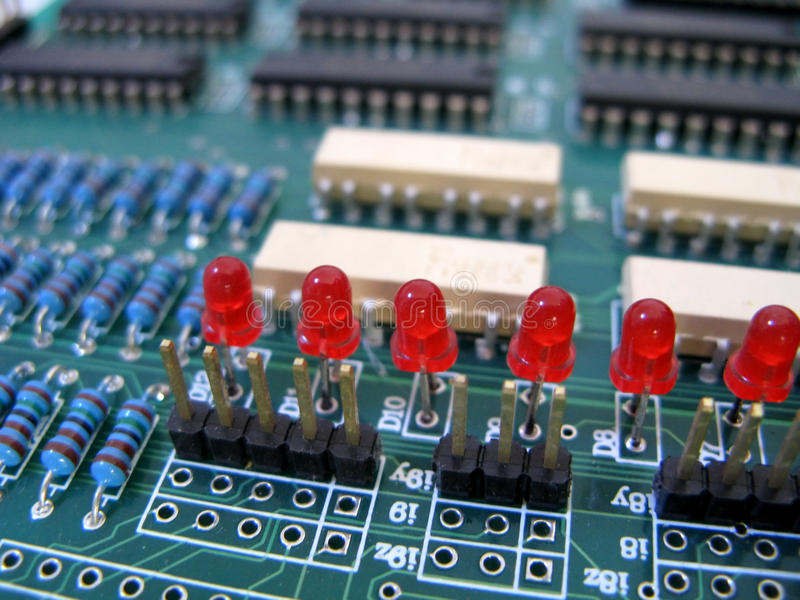 Download Integrated circuit stock photo. Image of blue, tech, electron - 10174218