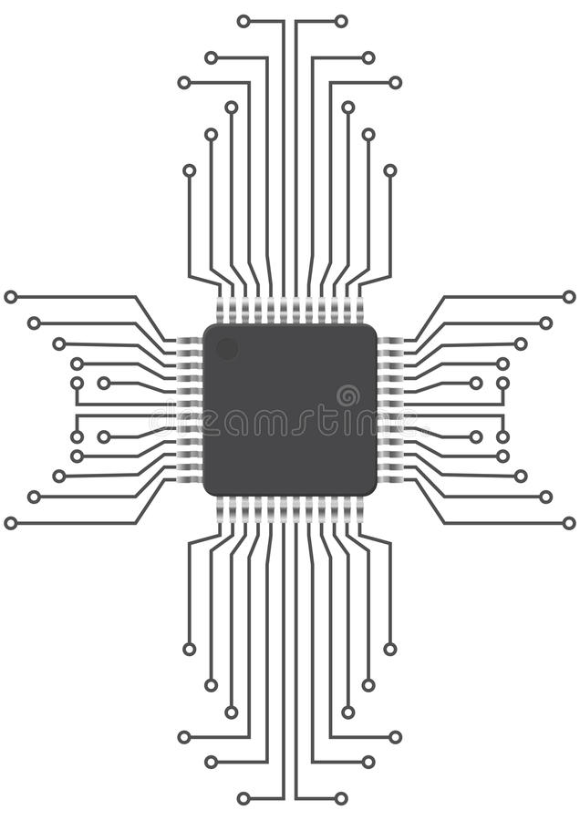 Integrated Circuit Royalty Free Stock Photography