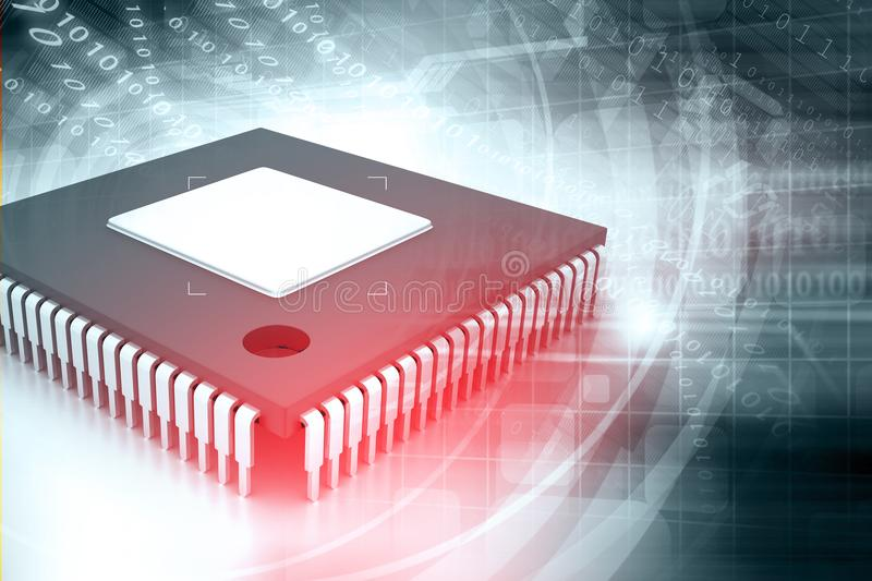 Integrated Circuit vector illustration