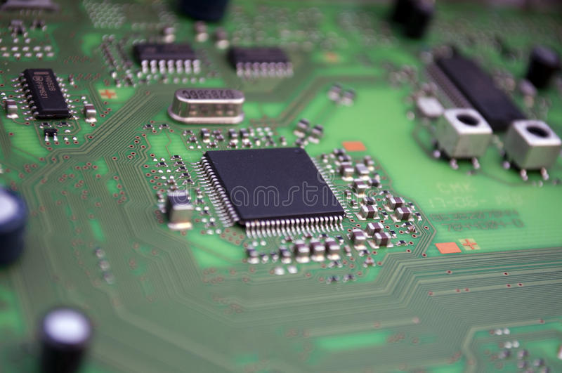 Download Integrated circuit board stock photo. Image of electronic - 36520168