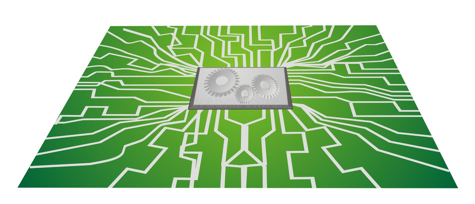 Download Integrated Circuit Boards CPU Stock Illustration - Illustration: 19581734
