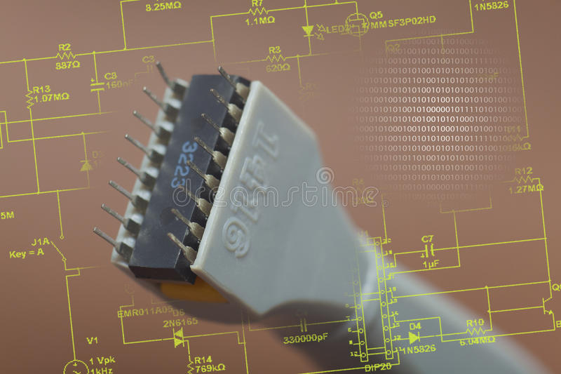 Download Integrated circuit stock image. Image of electricity - 34339699