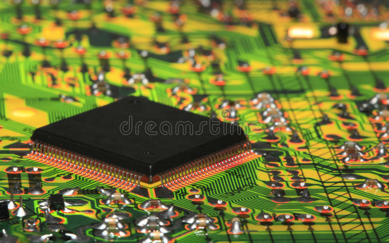 Download Integrated Circuit From Modern Electronic Equipment Stock Photo - Image: 40084414