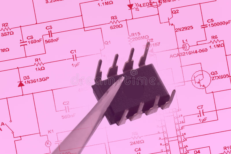 Download Integrated Circuit stock image. Image of component, dual - 38417753