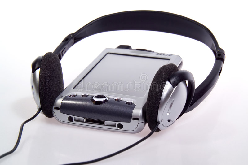 Integrated PDA, Cell Phone and MP3 Player stock image