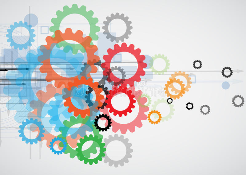 Integratie en innovatietechnologie stock illustratie