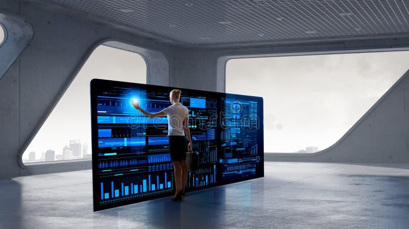 Integratie van nieuwe technologieën stock afbeeldingen