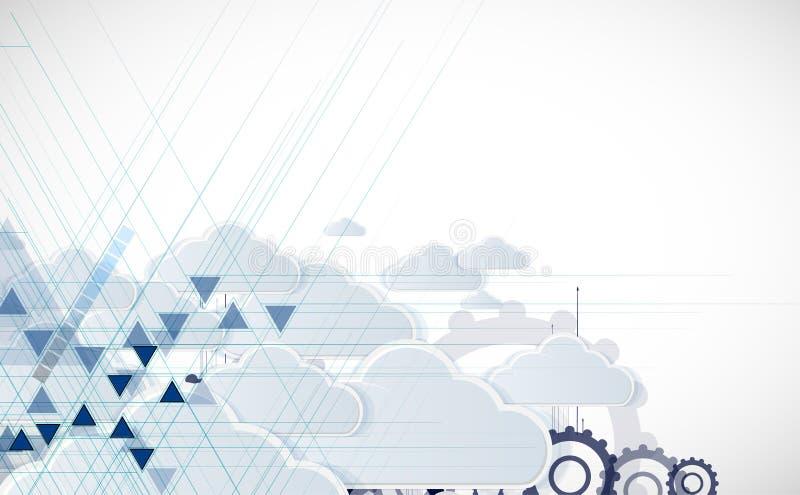Integratietechnologie met aard, hemel Beste ideeën voor Zaken royalty-vrije illustratie