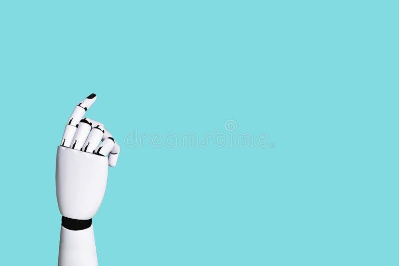 Integration för begrepp för robothandsystem och koordination av intellektuell teknologi stock illustrationer