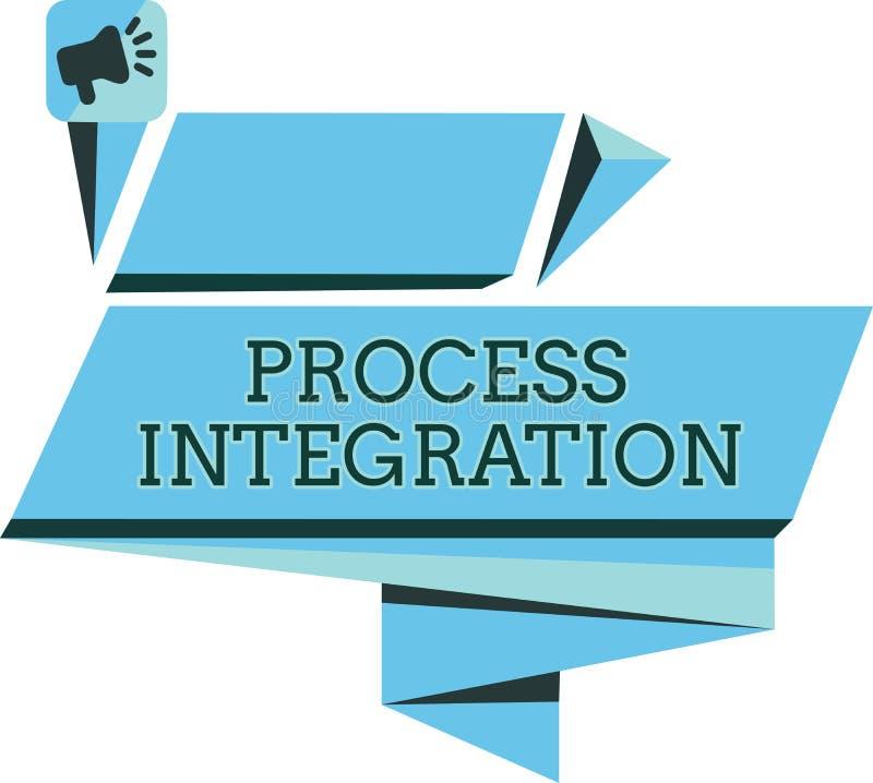 Integration för handskrifttextprocess Menande uppkopplingsmöjlighet för begrepp av service och information om system vektor illustrationer