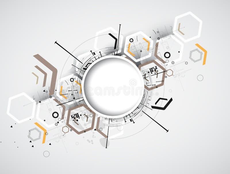 Integrations- och innovationteknologi royaltyfri illustrationer