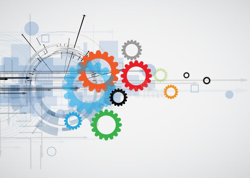 Integrations- och innovationteknologi vektor illustrationer
