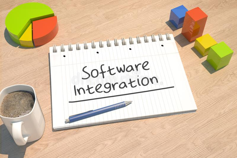 Integrazione di software illustrazione di stock