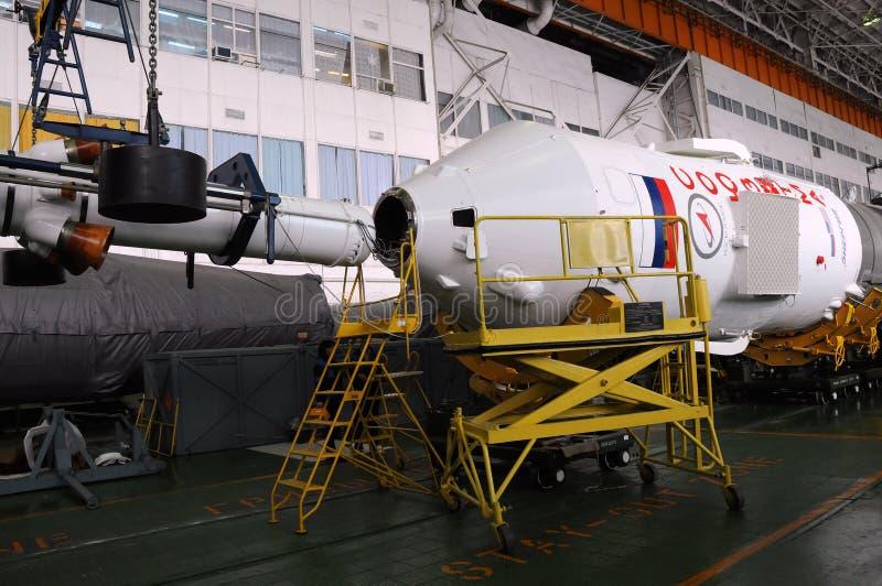 Integrazione di Soyuz Spaccraft fotografia stock