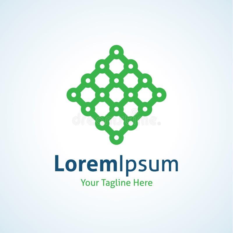 Integrieren Sie ausländische Technologiestruktur-Logoikone stock abbildung