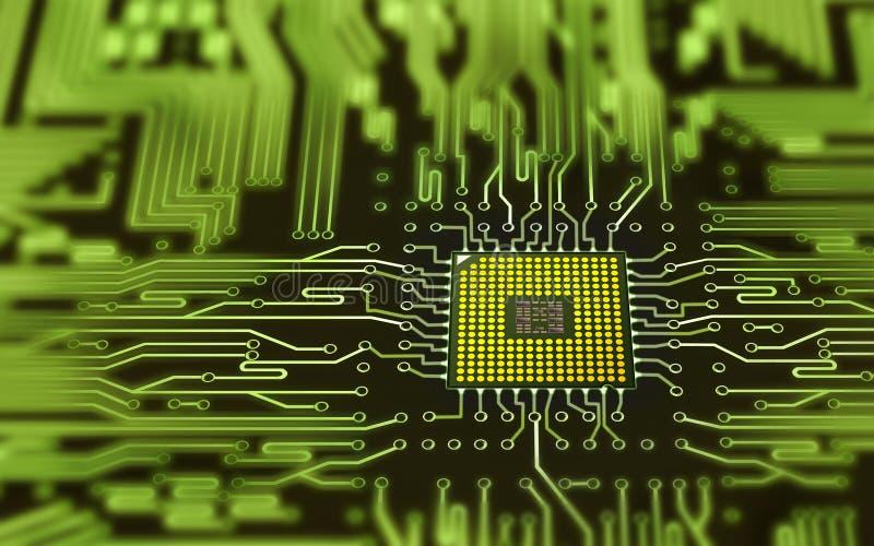 Integriertes Mikrochip stock abbildung